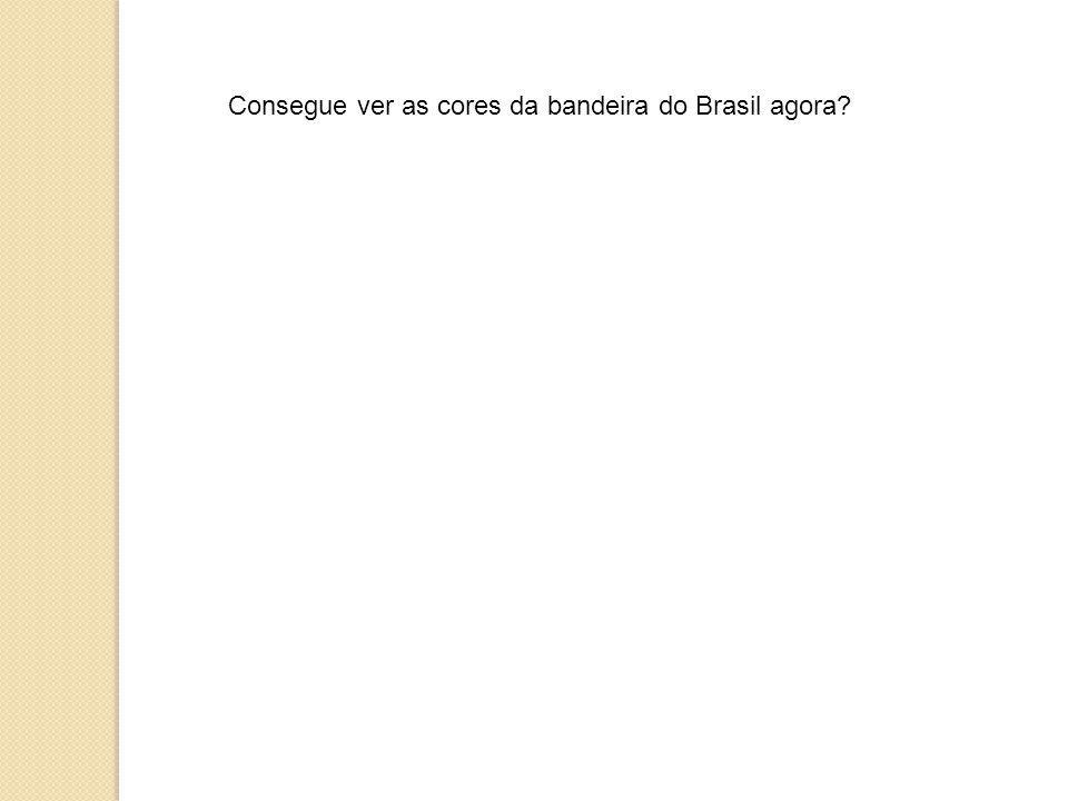 Consegue ver as cores da bandeira do Brasil agora?