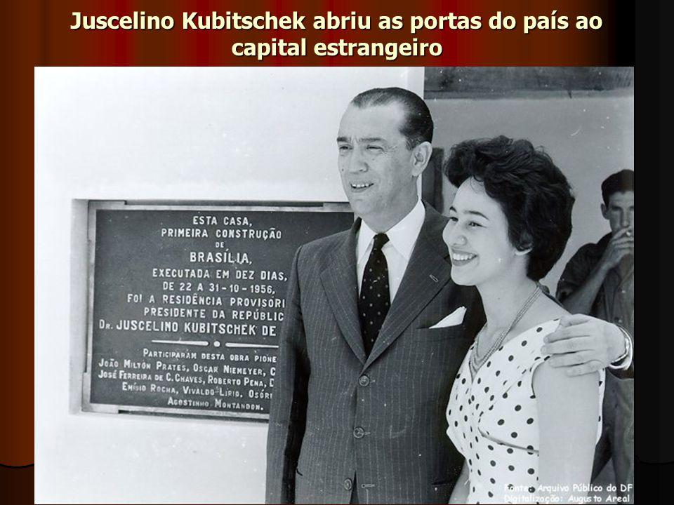 Juscelino Kubitschek abriu as portas do país ao capital estrangeiro