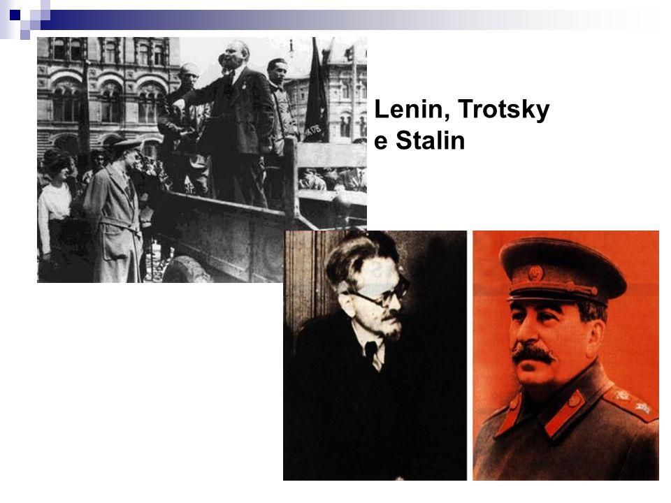 Lenin, Trotsky e Stalin