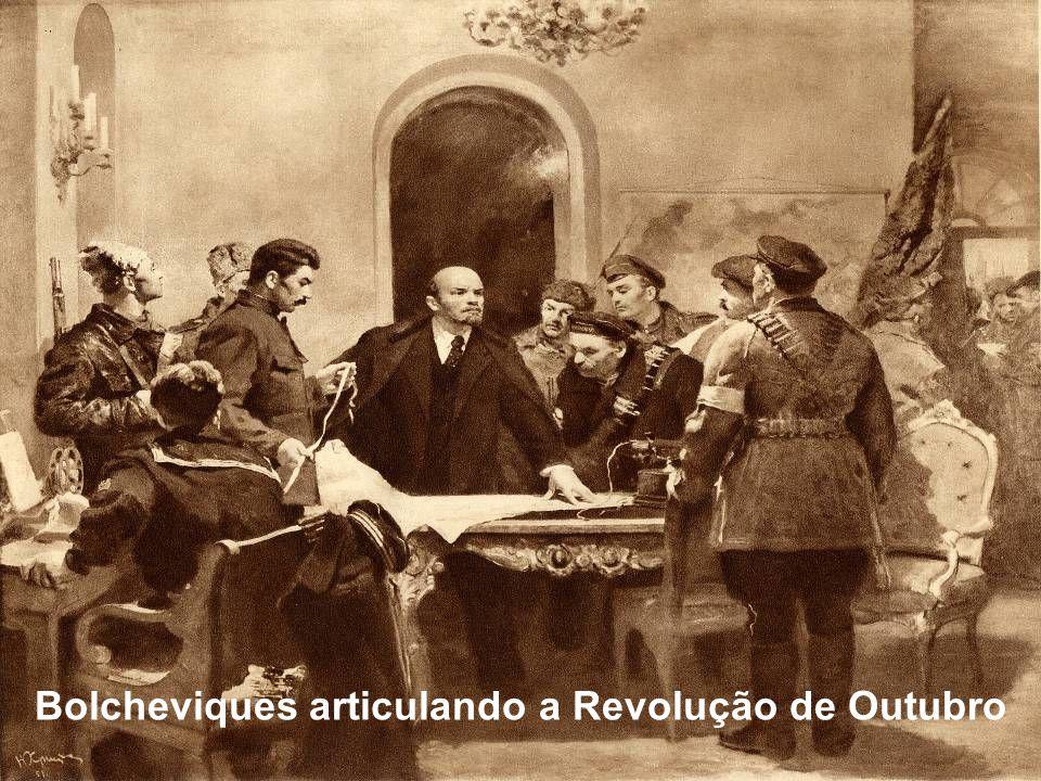 Bolcheviques articulando a Revolução de Outubro
