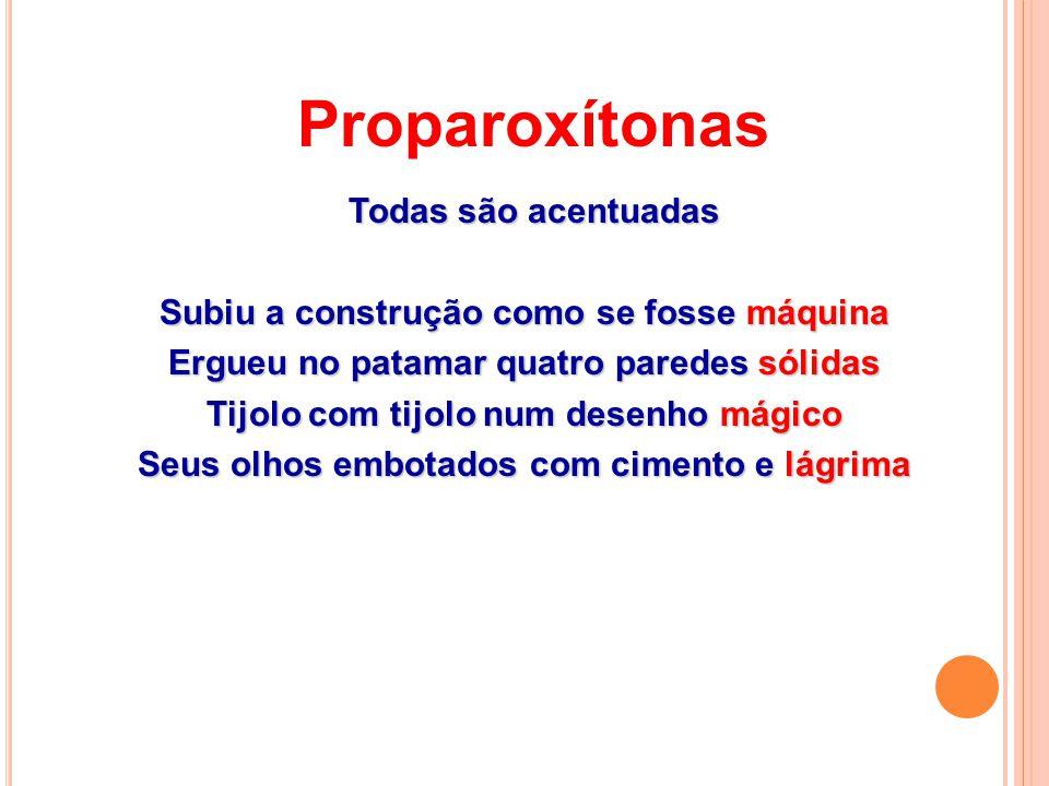 Paroxítonas - RouXiNoL - RouXiNoL - consoantes - ps / um (uns) - ps / um (uns) - ão (s) - ão (s) - nasais - nasais Acentuam-se em - ã (s) Acentuam-se em - ã (s) - vogais - vogais - u (s) - u (s) - orais - orais - i (s) - i (s) - ditongo crescente - ditongo crescente