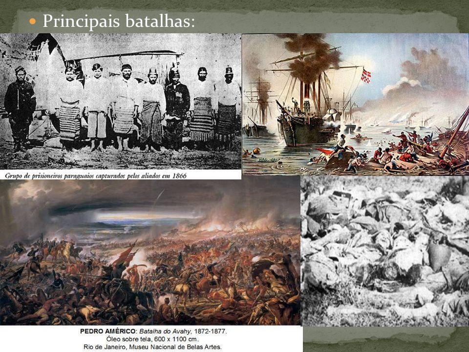 Principais batalhas: