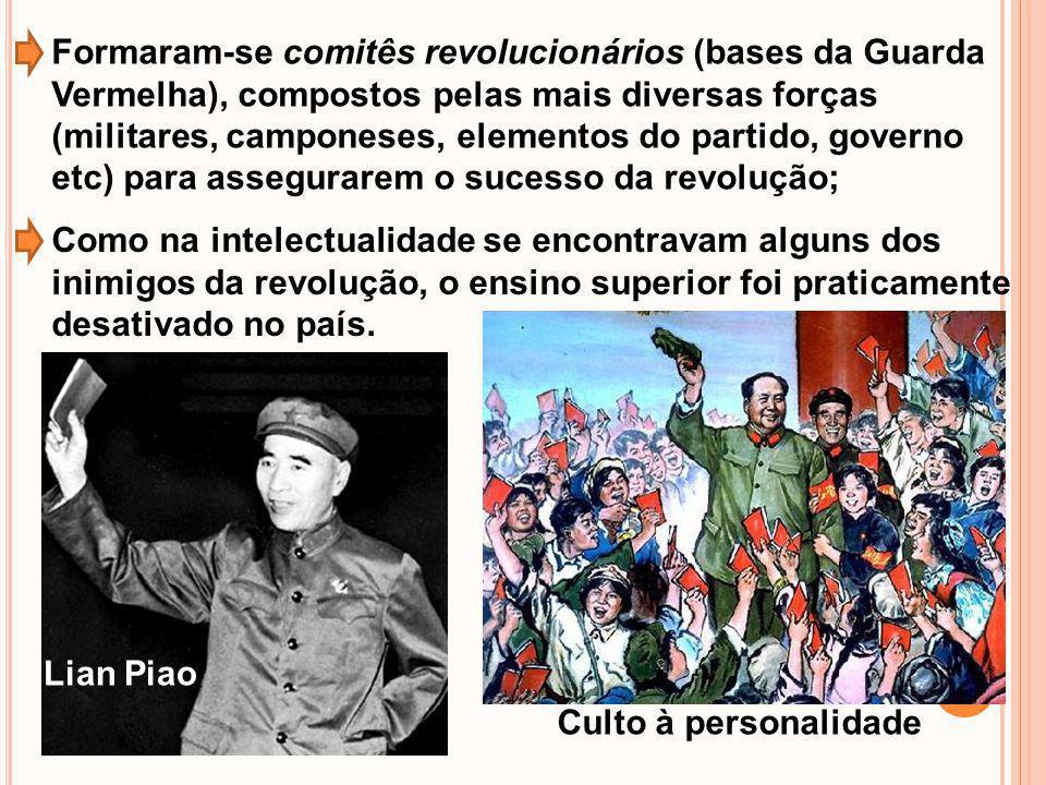 Formaram-se comitês revolucionários (bases da Guarda Vermelha), compostos pelas mais diversas forças (militares, camponeses, elementos do partido, gov
