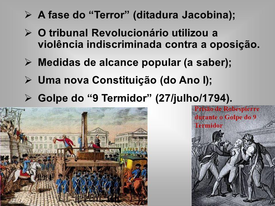 A fase do Terror (ditadura Jacobina); O tribunal Revolucionário utilizou a violência indiscriminada contra a oposição.