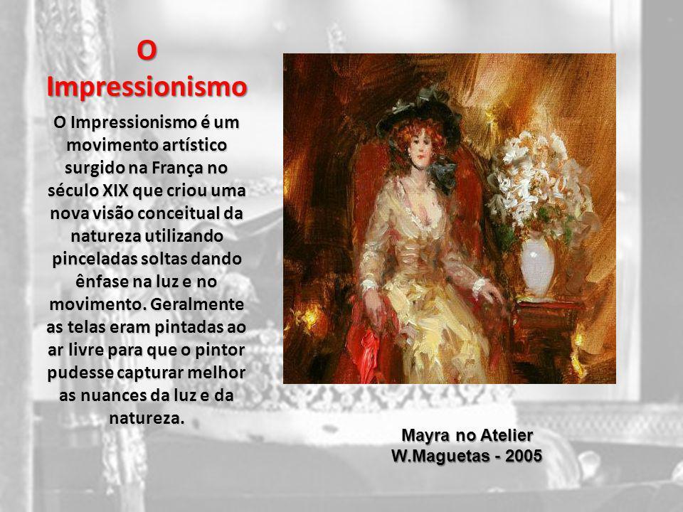 O Impressionismo O Impressionismo é um movimento artístico surgido na França no século XIX que criou uma nova visão conceitual da natureza utilizando