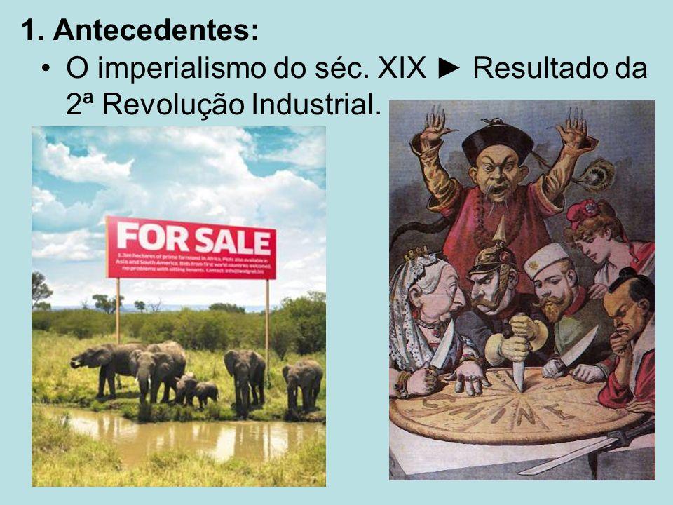 1. Antecedentes: O imperialismo do séc. XIX Resultado da 2ª Revolução Industrial.