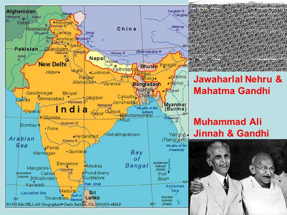 Jawaharlal Nehru & Mahatma Gandhi Muhammad Ali Jinnah & Gandhi