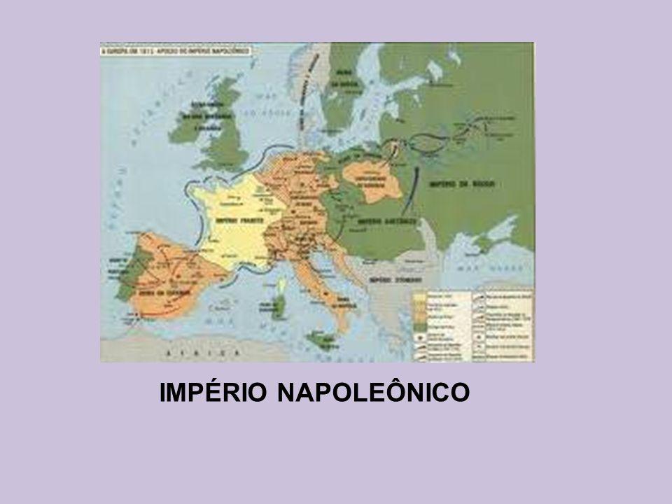 Batalha de Trafalgar (1805) França Grã Bretanha 41 navios 33 navios 13.700 baixas 1.600 baixas Derrota de Napoleão O Almirante Nelson tornou-se o maior herói da marinha naval inglesa