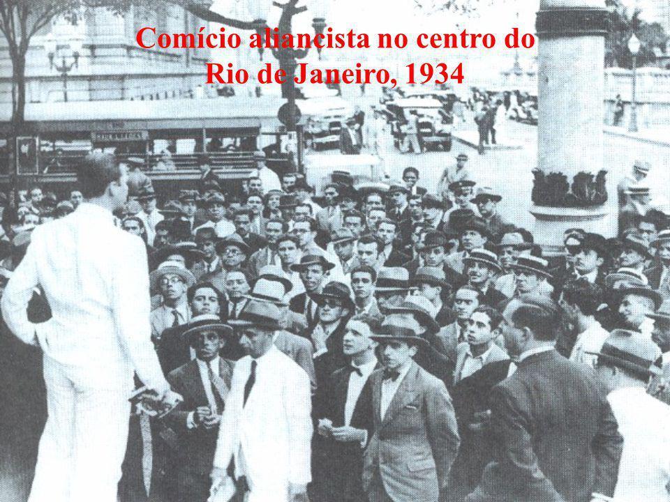 Comício aliancista no centro do Rio de Janeiro, 1934