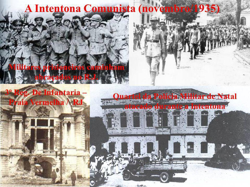 Quartel da Polícia Militar de Natal atacado durante a Intentona A Intentona Comunista (novembro/1935) 3º Reg. De Infantaria – Praia Vermelha / RJ Mili