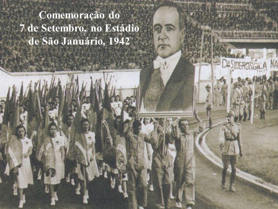 Comemoração do 7 de Setembro, no Estádio de São Januário, 1942