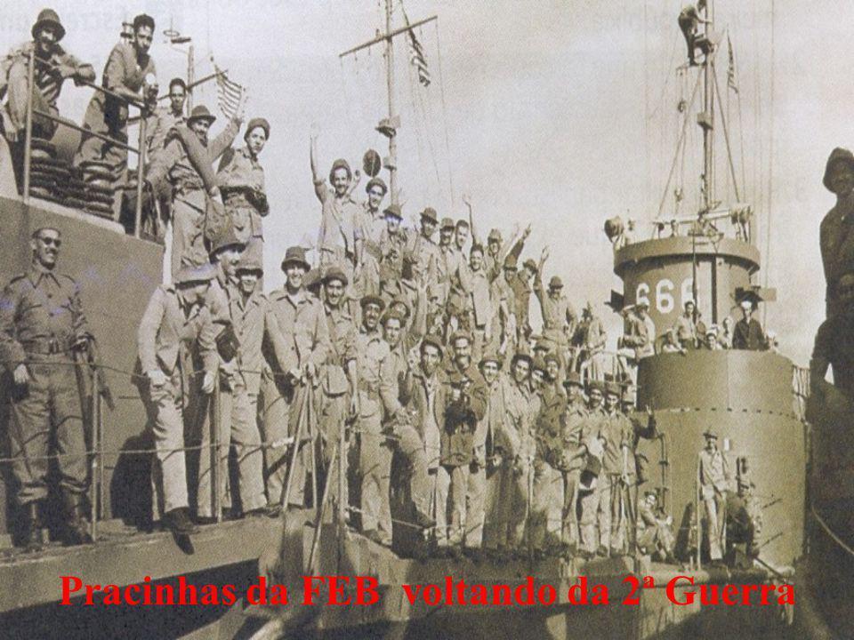Pracinhas da FEB voltando da 2ª Guerra