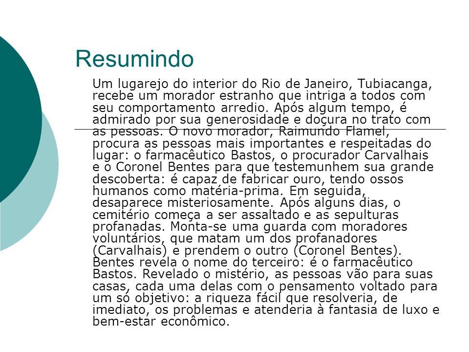Resumindo Um lugarejo do interior do Rio de Janeiro, Tubiacanga, recebe um morador estranho que intriga a todos com seu comportamento arredio. Após al