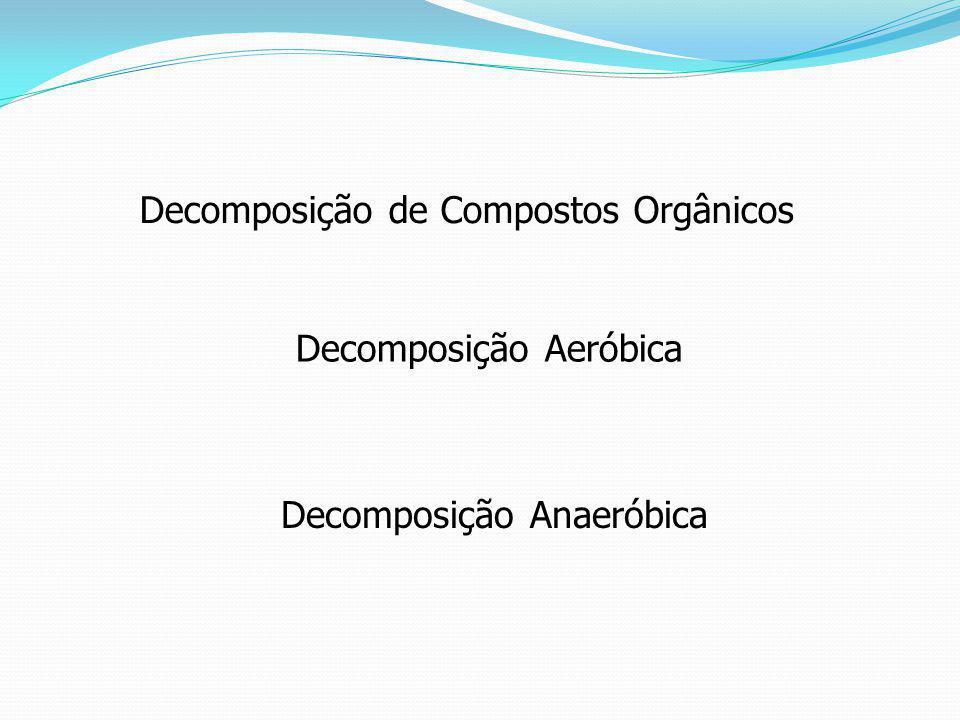 Decomposição de Compostos Orgânicos Decomposição Aeróbica Decomposição Anaeróbica