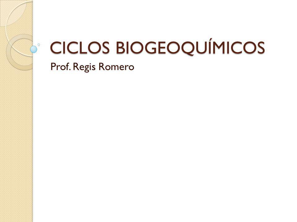 CICLOS BIOGEOQUÍMICOS Prof. Regis Romero