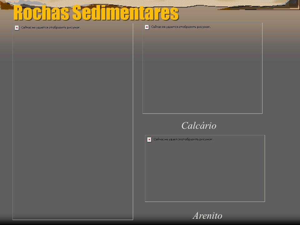 Rochas Sedimentares Calcário Arenito