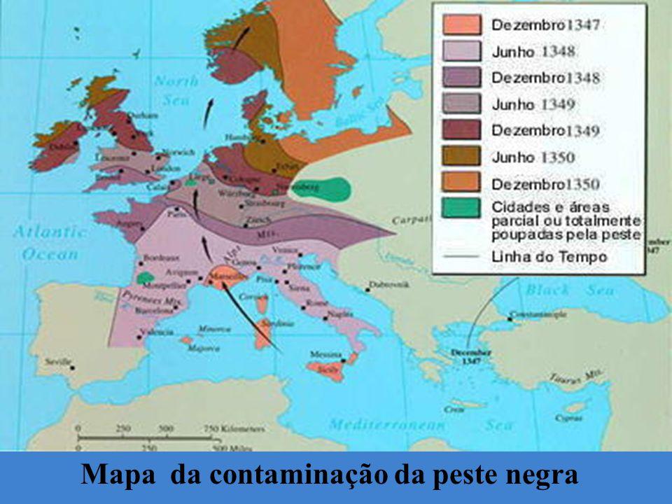 Mapa da contaminação da peste negra