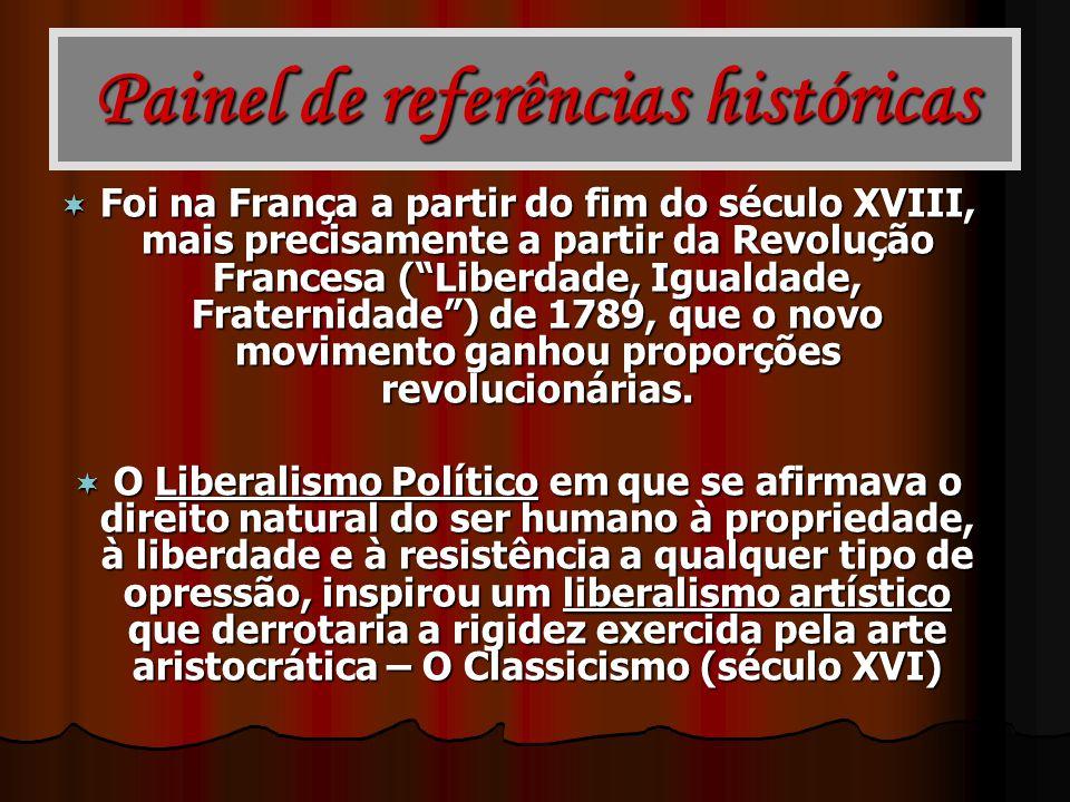 Painel de referências históricas Foi na França a partir do fim do século XVIII, mais precisamente a partir da Revolução Francesa (Liberdade, Igualdade