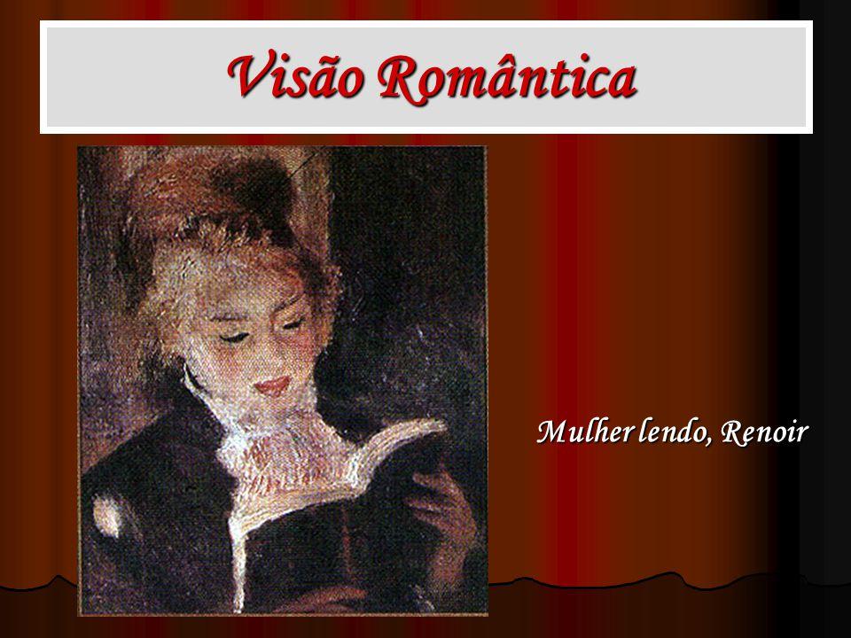 Visão Romântica Mulher lendo, Renoir