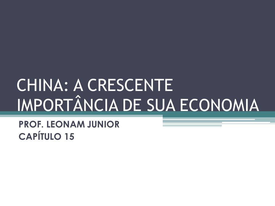 CHINA: A CRESCENTE IMPORTÂNCIA DE SUA ECONOMIA PROF. LEONAM JUNIOR CAPÍTULO 15