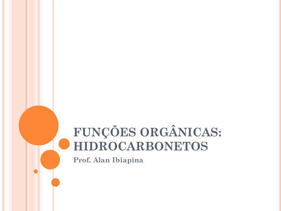 FUNÇÕES ORGÂNICAS: HIDROCARBONETOS Prof. Alan Ibiapina