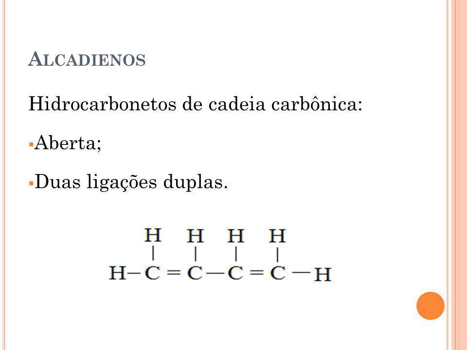 C ICLOALCANOS OU CICLANOS Hidrocarbonetos de cadeia carbônica: Fechada; Ligações simples.