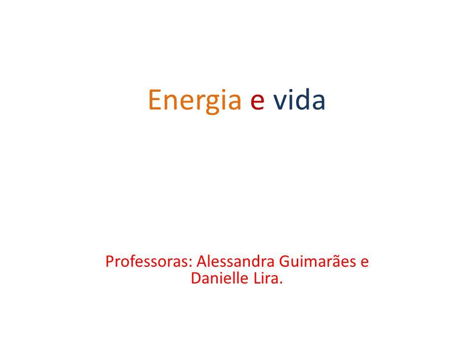 Energia e vida Professoras: Alessandra Guimarães e Danielle Lira.