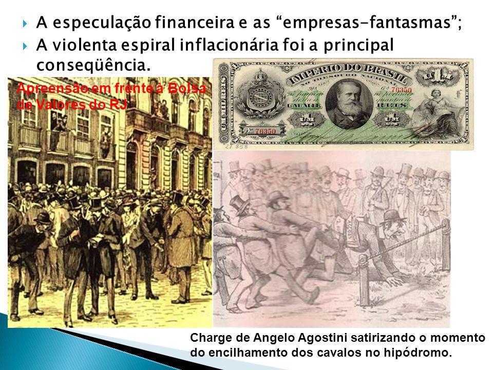 A especulação financeira e as empresas-fantasmas; A violenta espiral inflacionária foi a principal conseqüência.