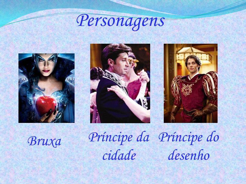 Personagens Bruxa Príncipe da cidade Príncipe do desenho