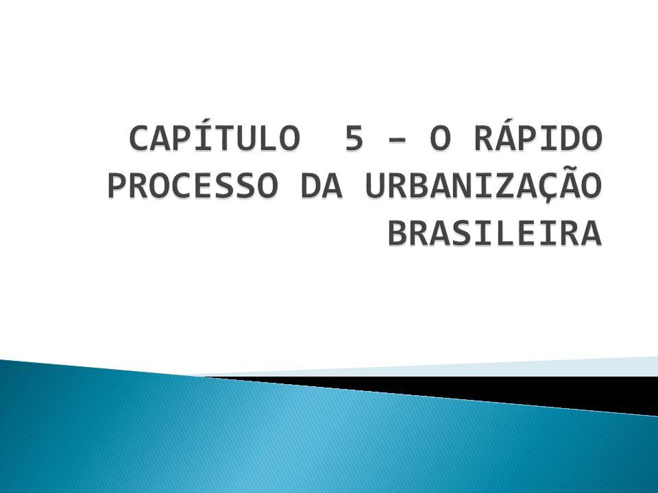 O BRASIL É ESSENCIALMENTE URBANO COM CERCA DE 84,4% DE SEUS HABITANTES VIVENDO EM CIDADES.