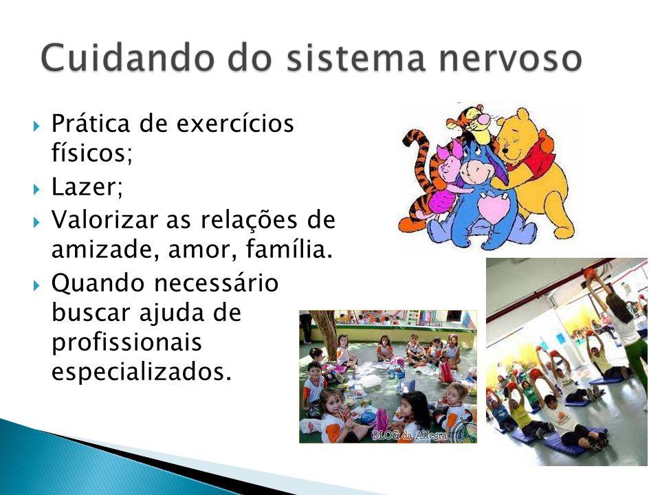 Prática de exercícios físicos; Lazer; Valorizar as relações de amizade, amor, família. Quando necessário buscar ajuda de profissionais especializados.