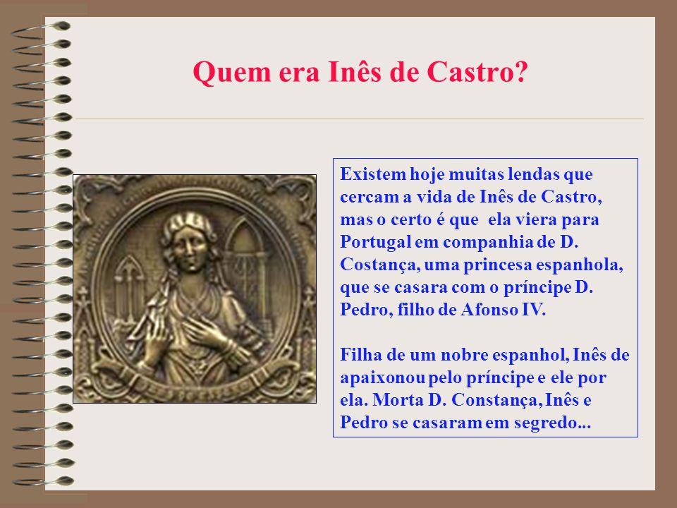 Um exemplo de crônica: El-Rei D. Pedro, o cruel Inês de Castro implora a seus algozes