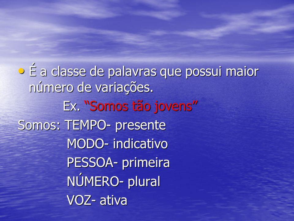 Informações gerais sobre VERBO 1.Classificação; 1.