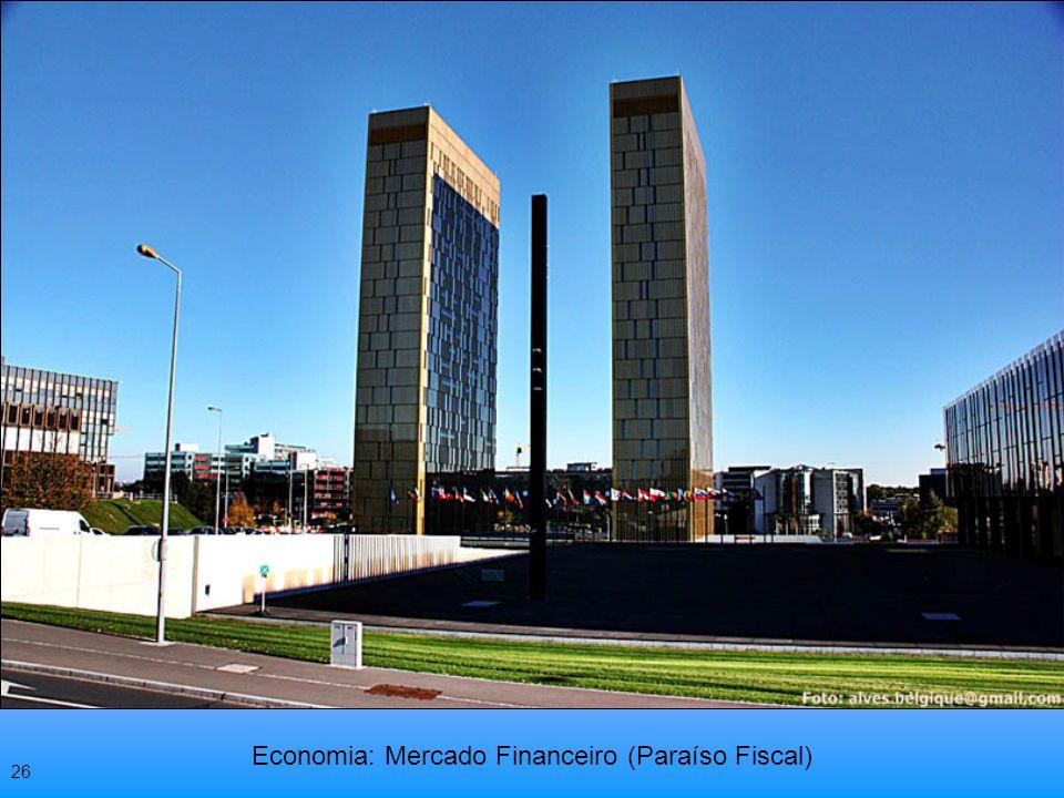 O PIB por habitante de Luxemburgo, é o mais elevado do mundo. 25
