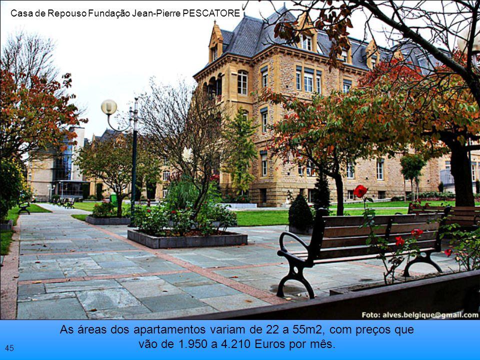 A Fundação JP Pescatore possui 350 acomodações individuais e para casais, acima de 70 anos. Podendo ser por temporadas ou permanentes Casa de Repouso