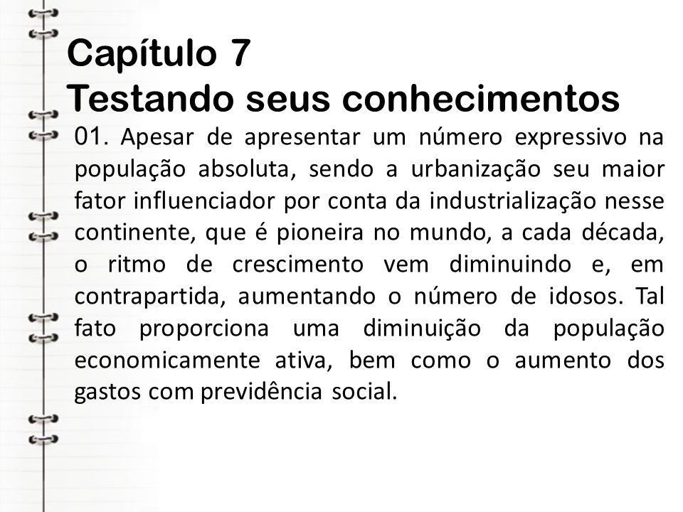 Capítulo 7 Testando seus conhecimentos 01.