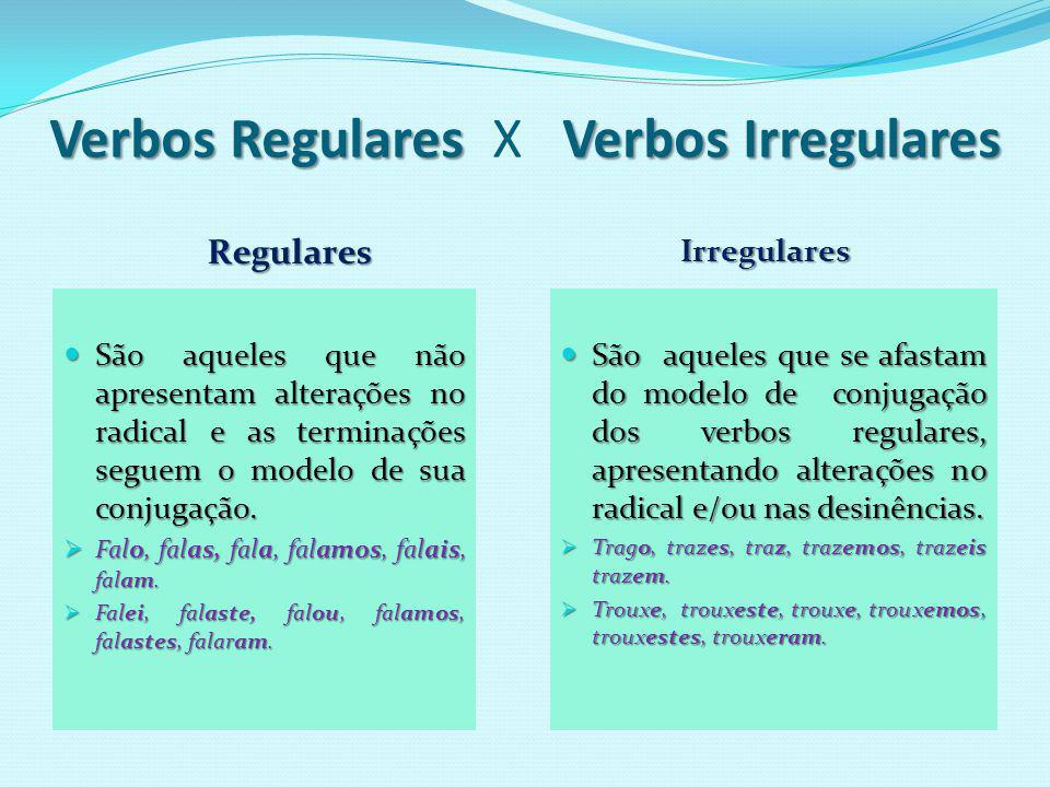 Verbos que não apresentam algumas formas, normalmente por motivos eufônicos; a maioria é de 3ª conjugação (ir).