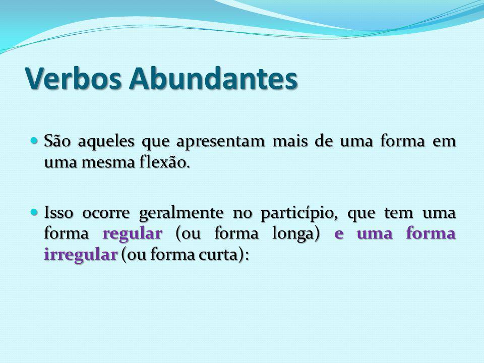 Verbos regulares e irregulares, anômalos, abundantes e defectivos