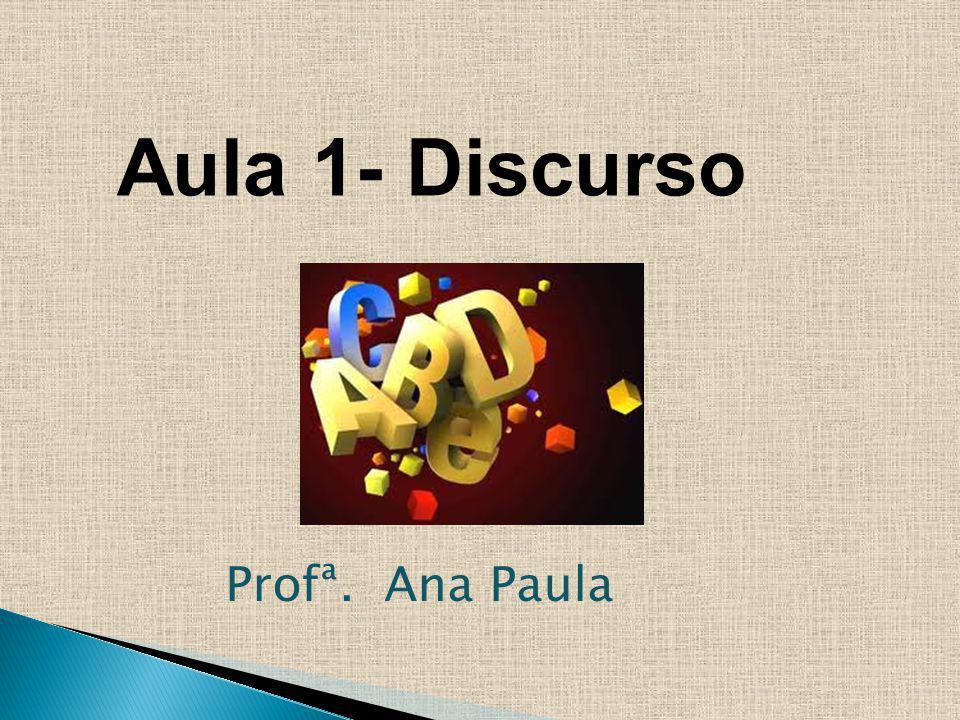 Aula 1- Discurso