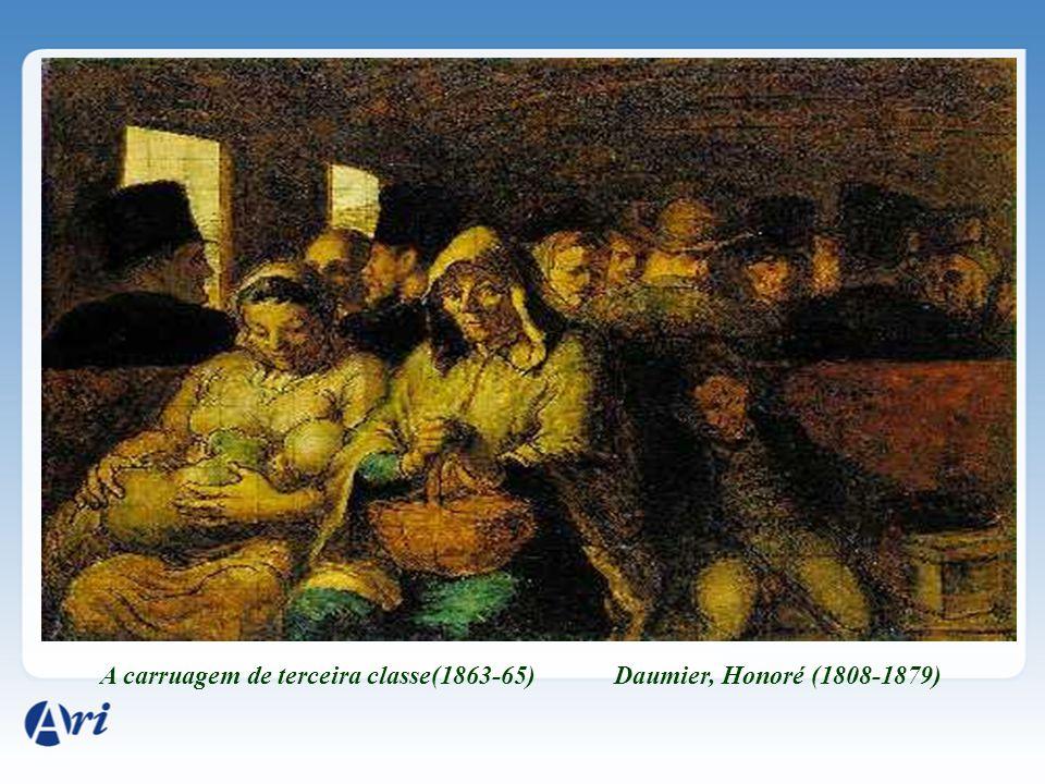 A carruagem de terceira classe(1863-65) Daumier, Honoré (1808-1879)