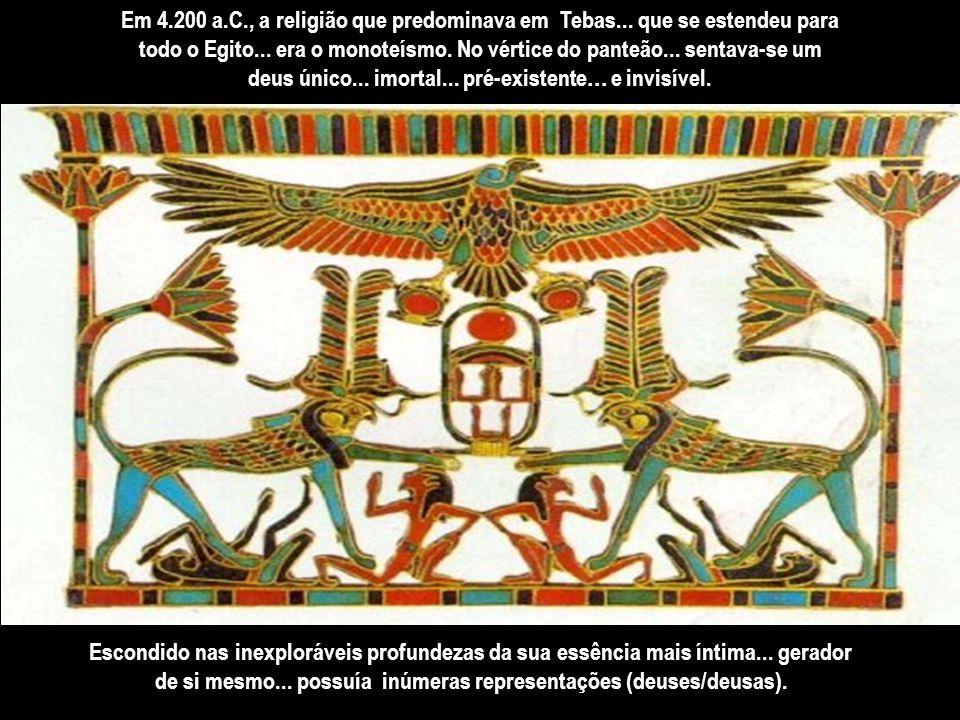 Acreditava-se... que eles controlavam o Nilo... que varria e renovava tudo em um ritmo cósmico. Os monarcas egípcios possuíam uma impressionante autor