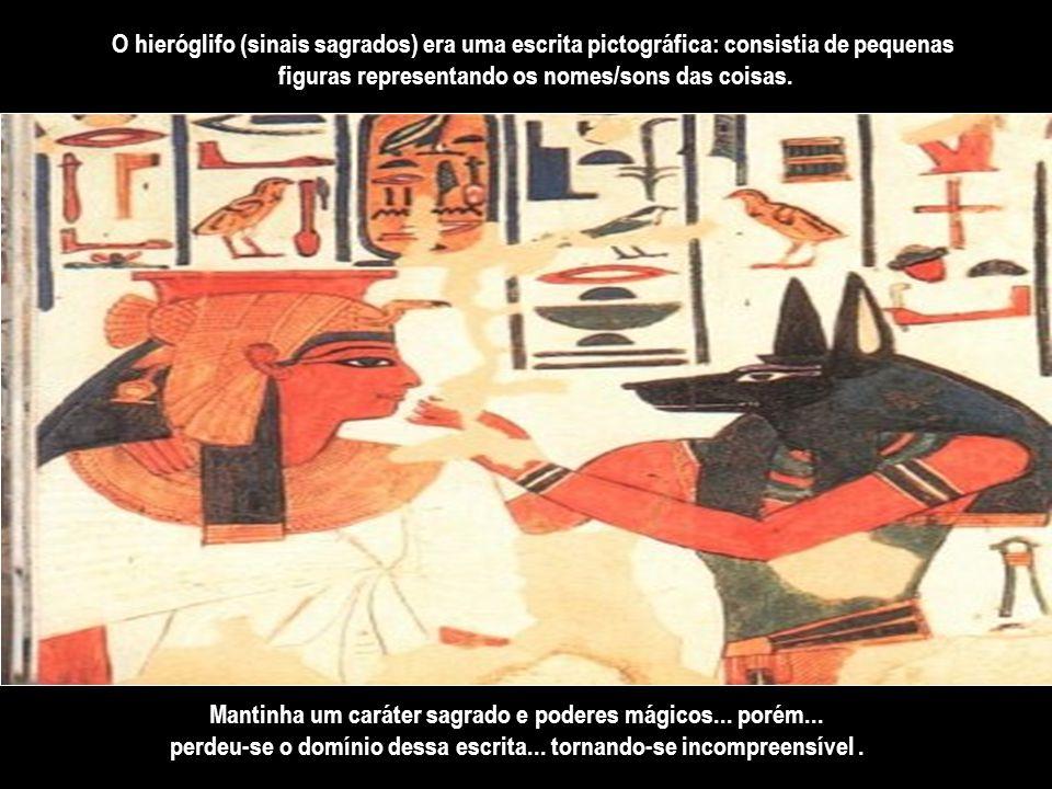 As enchentes e vazantes do rio Nilo... eram enormes reguladores da vida dos egípcios há 3.200 a.C., quando as leis civis e religiosas... a escrita...