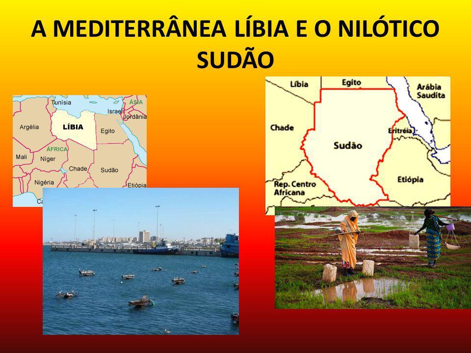 A MEDITERRÂNEA LÍBIA E O NILÓTICO SUDÃO