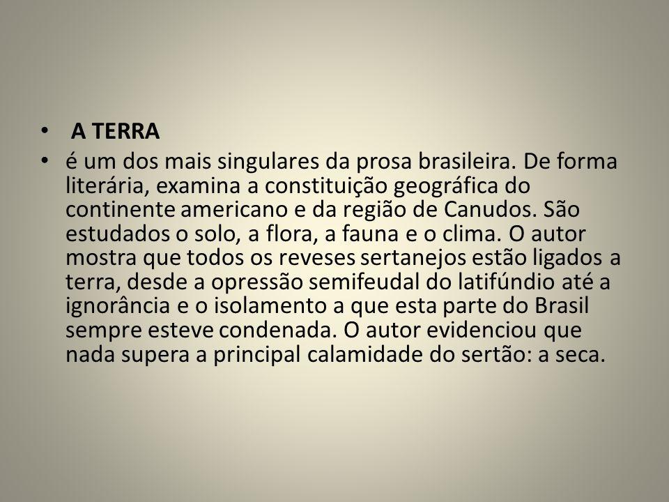 A TERRA é um dos mais singulares da prosa brasileira.