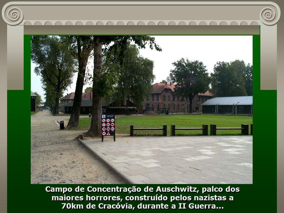 Cracóvia é lembrada, também, por ter sido a cidade onde teve sequência a II Guerra Mundial, iniciada ao norte em Gdanski, com o ataque dos alemães sob