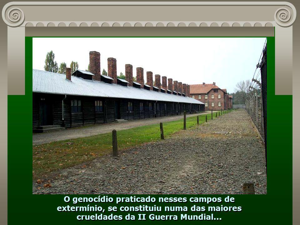 Só aqui em Auschwitz perto de 1.500.000 pessoas, principalmente judeus, foram executadas...
