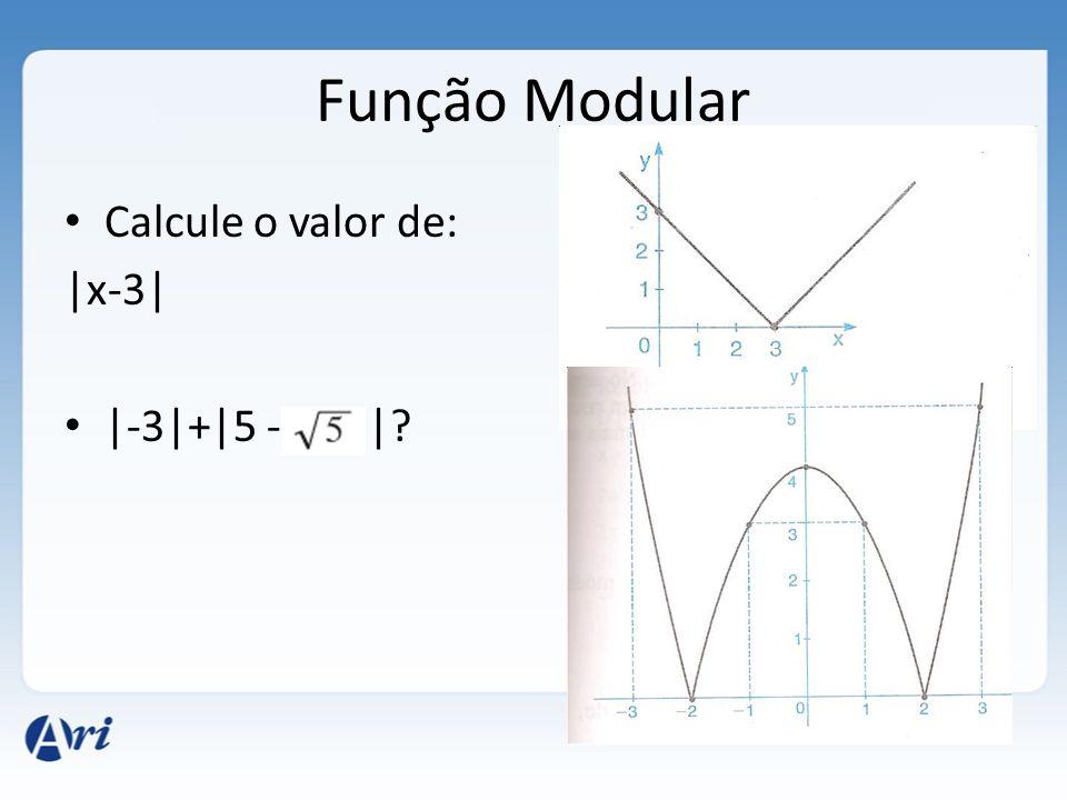 Função Modular Calcule o valor de: |x-3| |-3|+|5 - |?