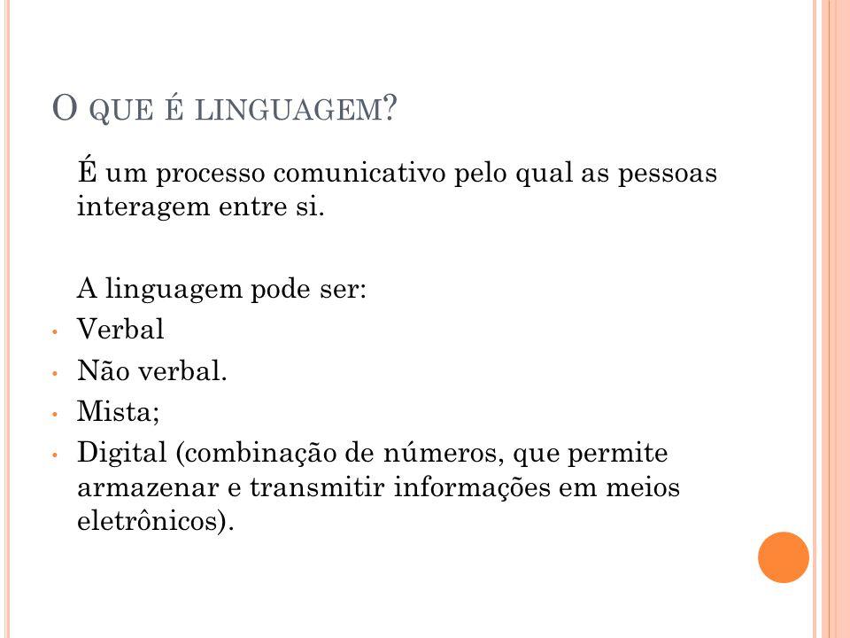 L ÍNGUA NÃO PADRÃO : É o conjunto de todas as variedades linguísticas diferentes da língua padrão.