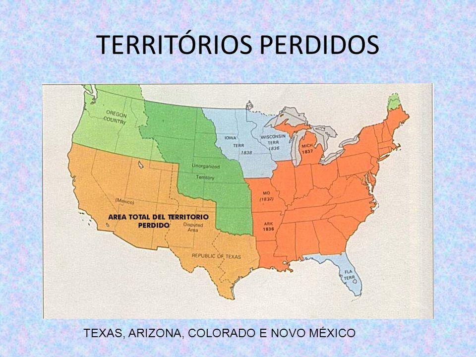 TERRITÓRIOS PERDIDOS TEXAS, ARIZONA, COLORADO E NOVO MÉXICO