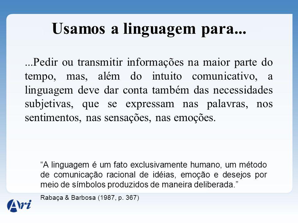 Linguagem é...... A atividade humana que, nas representações de mundo que constrói, revela aspectos históricos, sociais e culturais. É por meio da lin